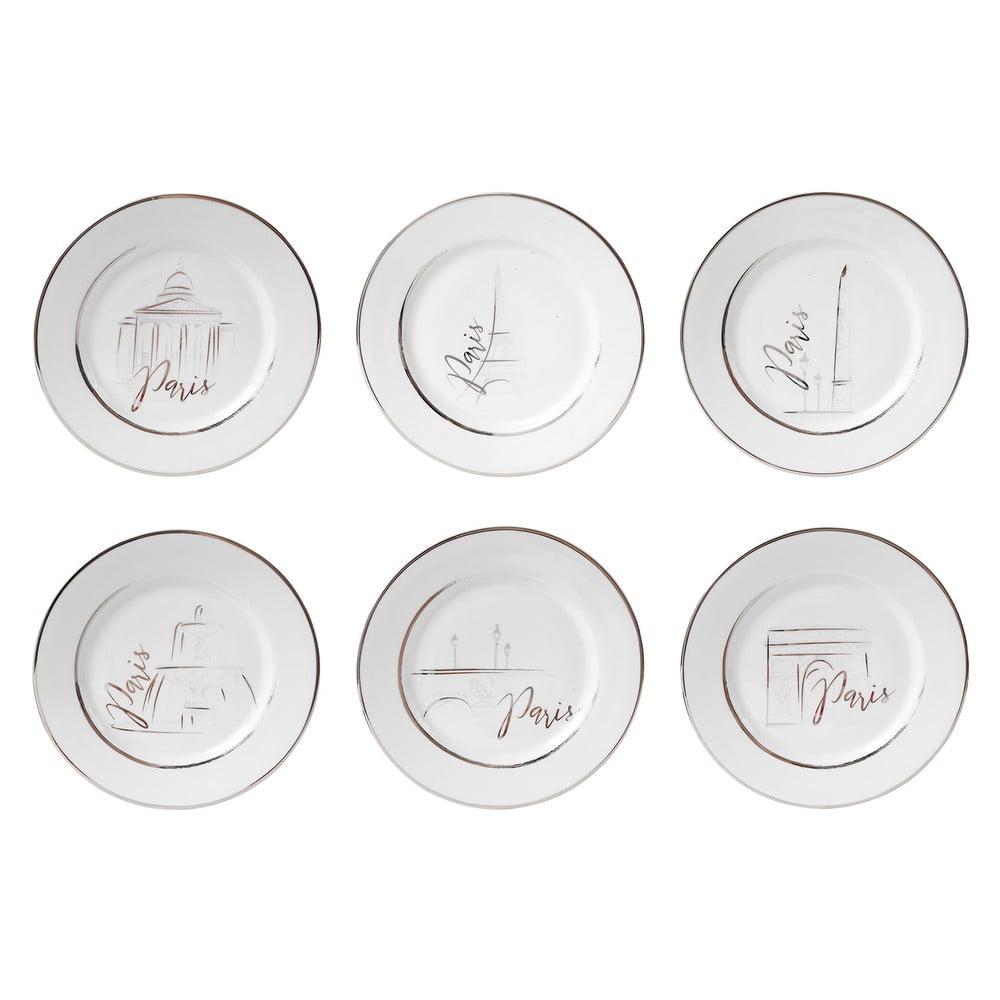 Sada 6 porcelánových dezertních talířů Côté Table Capit