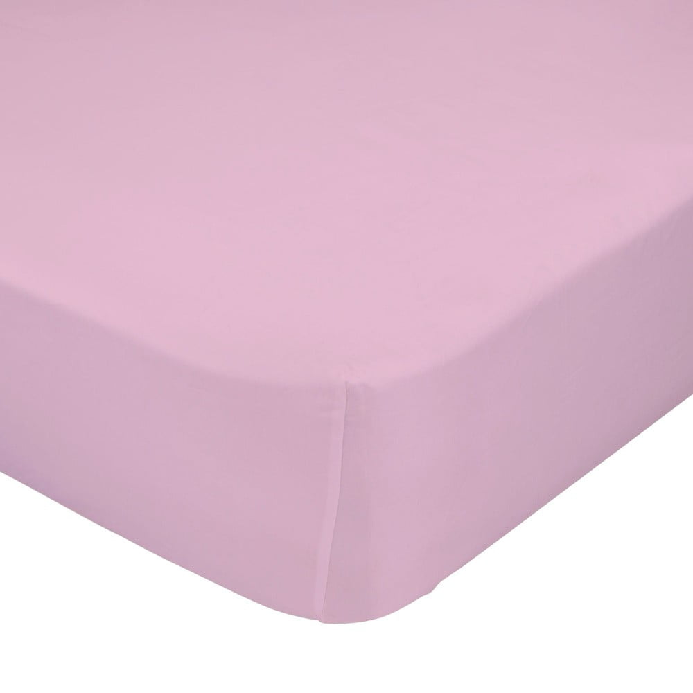 Světle růžové elastické prostěradlo HF Living Basic, 160 x 200 cm