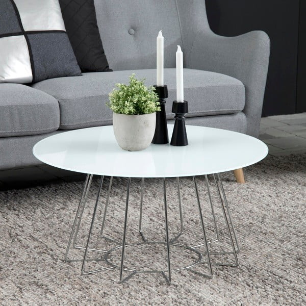 Konferenční stolek Casia, výška 40 cm, bílý