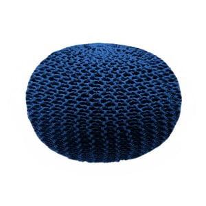 Tmavě modrý puf Dedalo, ⌀ 45cm