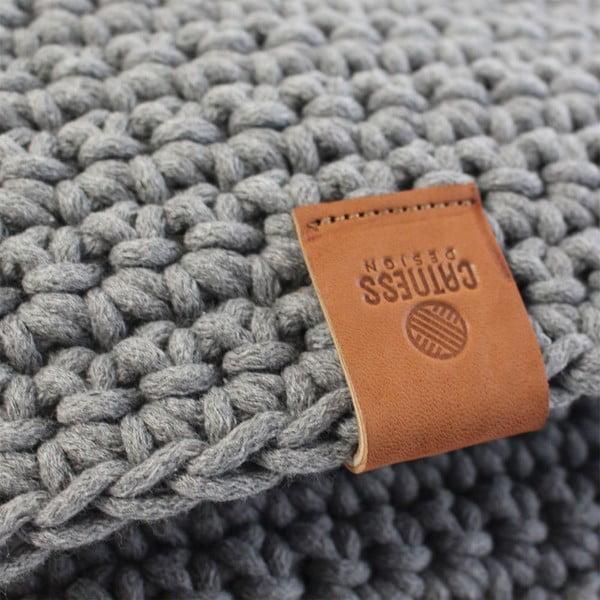 Háčkovaný koberec Catness, světle šedý, 150x200 cm