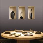 3D samolepky na zeď Nisha Vases Louxor, 3 ks