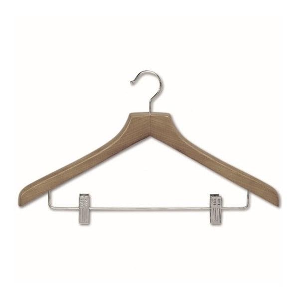 Ramínko s kalhotovou tyčí se 2klipsnami z bukového dřeva na košile Cosatto Mokko
