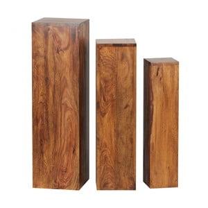Sada 3 podstavců z masivního palisandrového dřeva Skyport Octavia