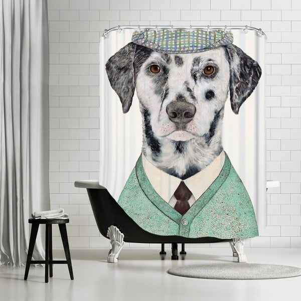 Koupelnový závěs Dalmatian, 180x180 cm
