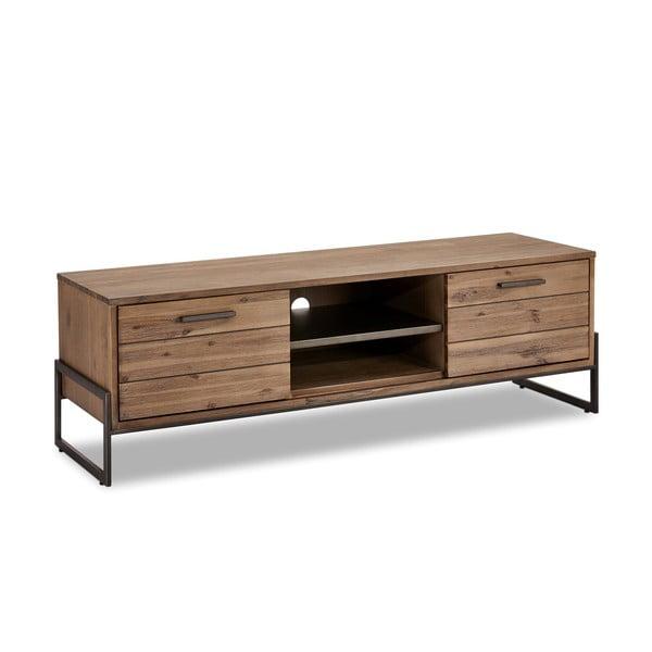 Brązowa szafka pod TV z litego drewna Furnhouse Mallorca
