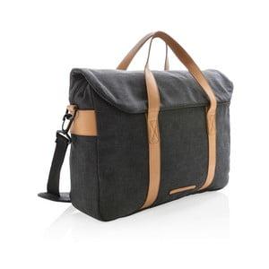Černá plátěná taška na notebook 15,6'' XD DesignCollection, 16l