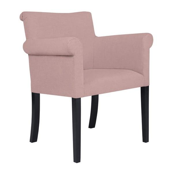Světle růžová židle Kooko Home Harp