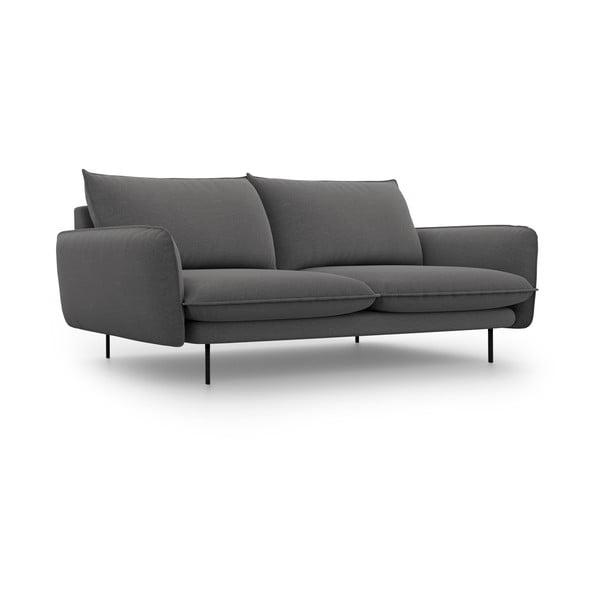 Tmavě šedá pohovka Cosmopolitan Design Vienna,šířka200 cm