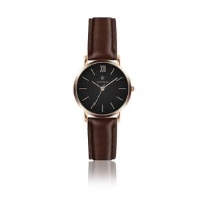 Dámské hodinky s tmavě hnědým koženým řemínkem Paul McNeal, ⌀ 3,6 cm