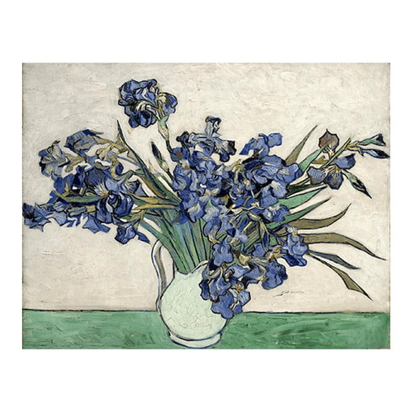 Reproducere pe pânză după Vincent van Gogh - Irises 2, 40 x 26 cm