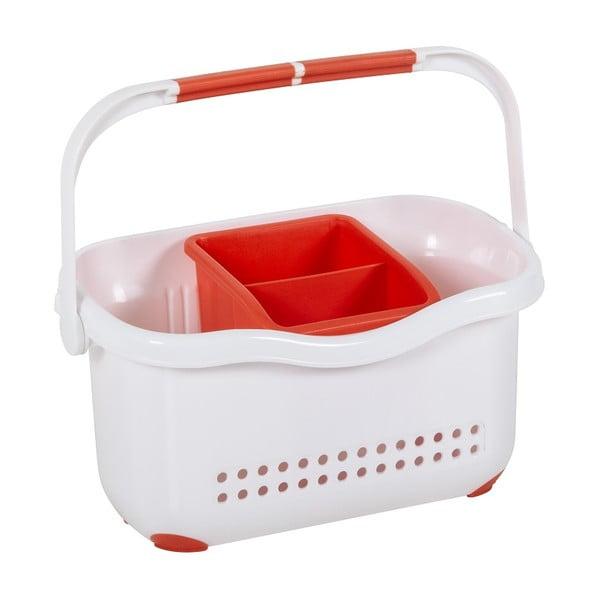 Bílo-červený košík k dřezu Addis Caddy