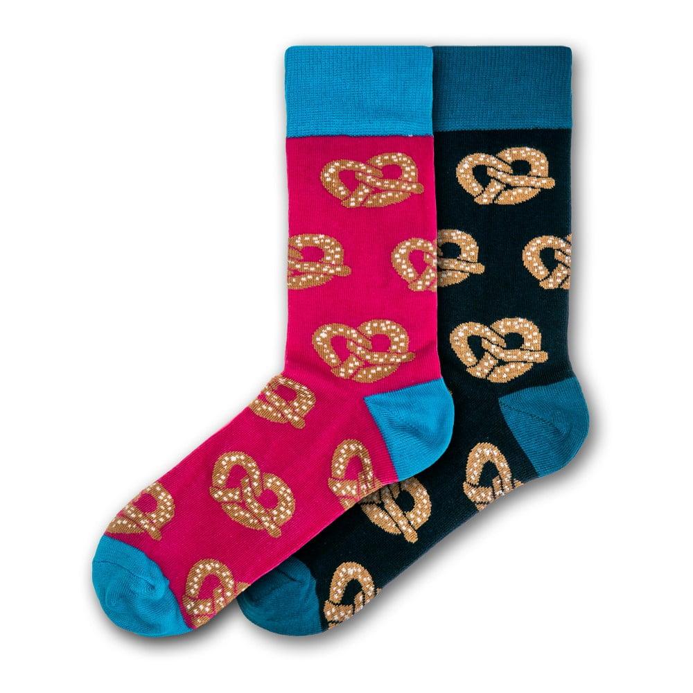 Sada 2 párů barevných ponožek Funky Steps Pretzels, velikost 41 - 45