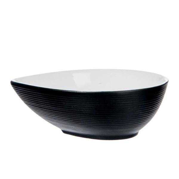 Miska Stripes Dark Black, 15x12x6 cm