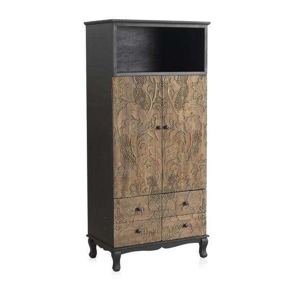 Dřevěná šatní skříň Geese Fionne