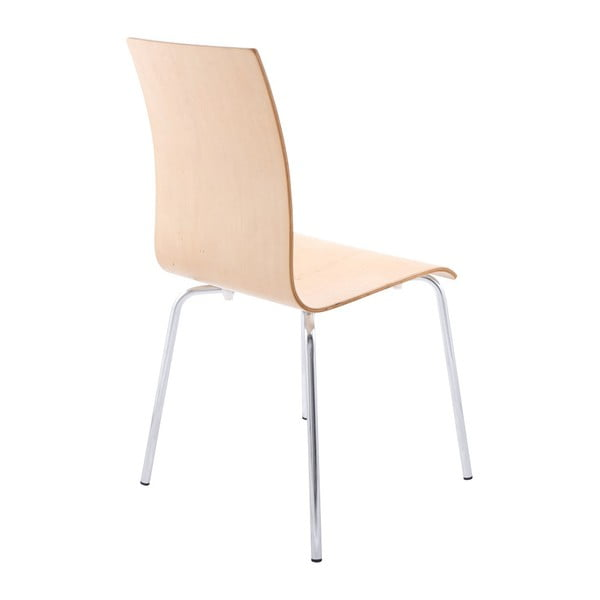 Jídelní židle se sedákem v dekoru přírodního dřeva Kokoon Classic