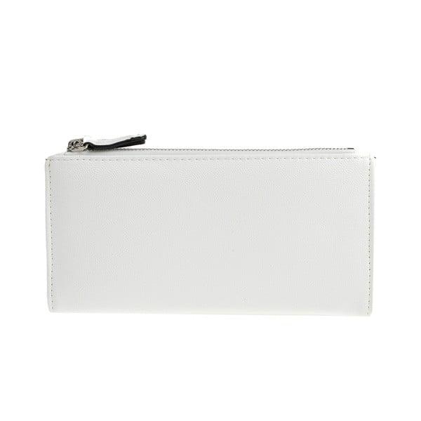 Bílá koženková peněženka Carla Ferreri, 10.5 x 19 cm
