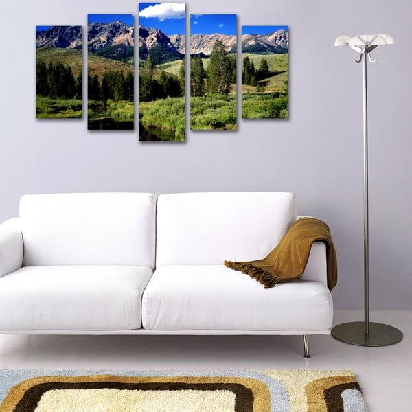 5dílný obraz Na horách