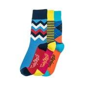 Sada 3 párů ponožek Funky Steps Bady, univerzální velikost