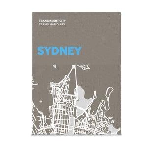 Mapa na popisky Palomar Transparent City Sydney