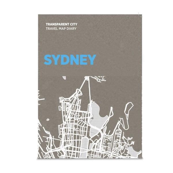 Jurnal pentru notițe pe hartă Palomar Transparent City Sydney
