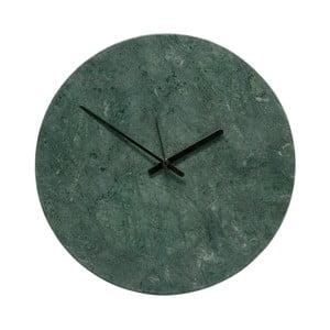 Zelené mramorové hodiny Hübsch Tempus