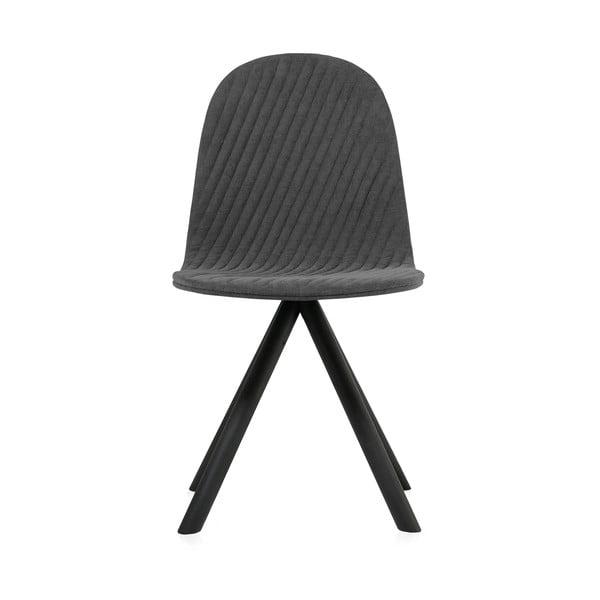 Tmavosivá stolička s čiernymi nohami IKER Mannequin Stripe