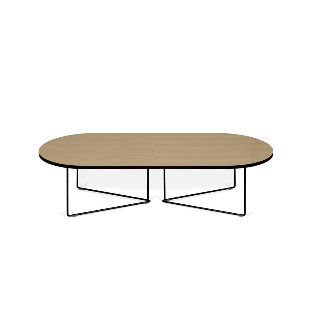 Konferenční stolek s dubovou dýhou TemaHome