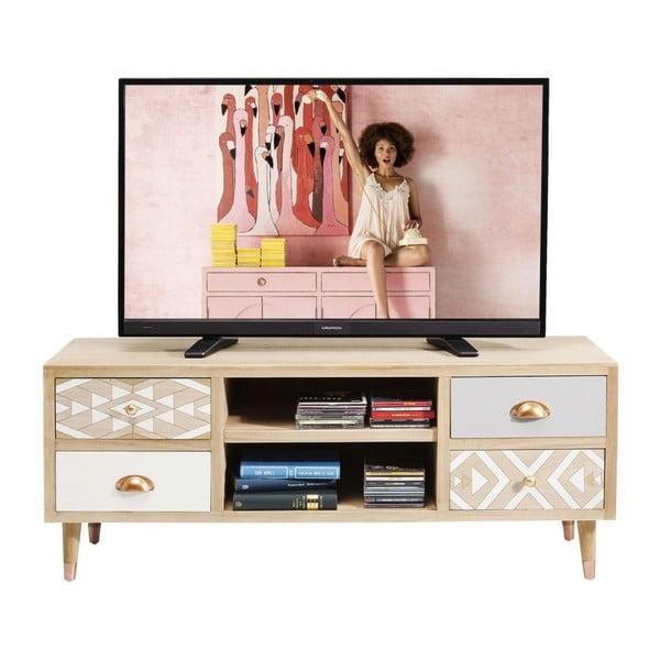 TV komoda z dřeva pavlonie Kare Design Oase