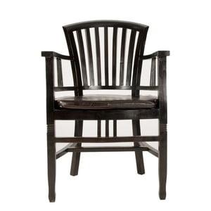 Židle z mahagonu s područkami SOB Poirot