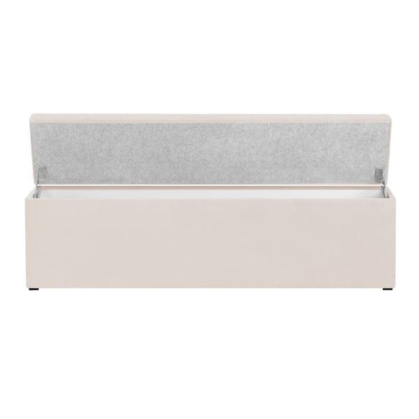 Bancă pentru pat cu spațiu de depozitare Kooko Home, 47 x 160 cm, bej