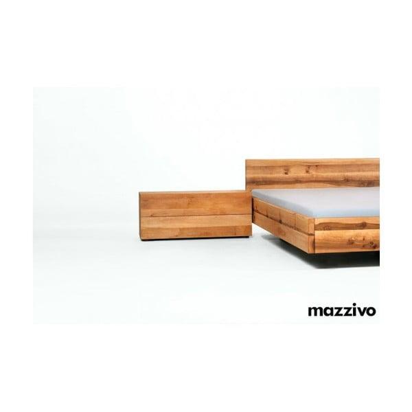 Noční stolek Borgo Lang z olšového dřeva, bezbarvý vosk