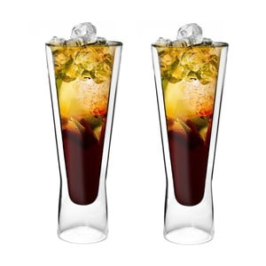 Sada 2 dvojitých long sklenic Amo, 250 ml