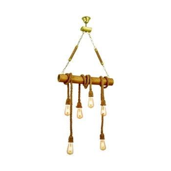 Lustră din lemn de carpen Bambu 6lı