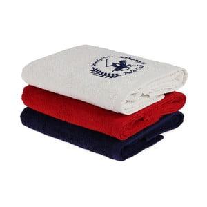 Sada 3 ručníků na ruce, 90 x 50 cm