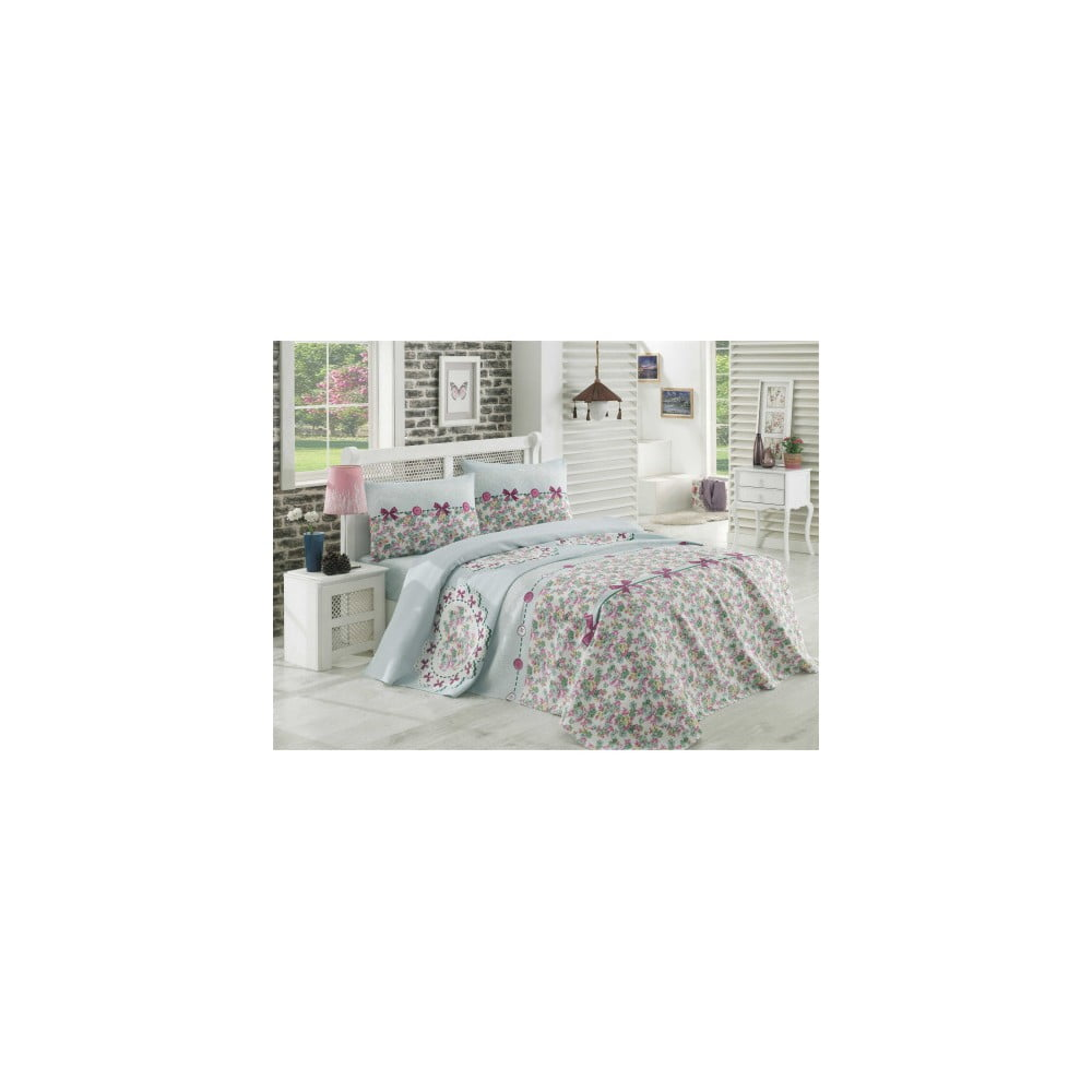 Set povlečení na jednolůžko a lehké přikrývky přes postel Lovely
