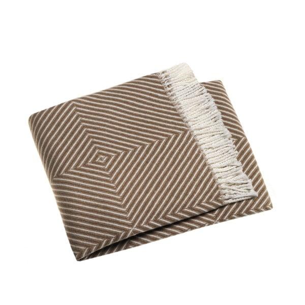 Kaštanově hnědá deka Euromant Tebas, 140x180cm
