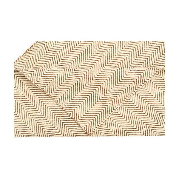 Vlněný koberec Flat, 155x215 cm, smetanový