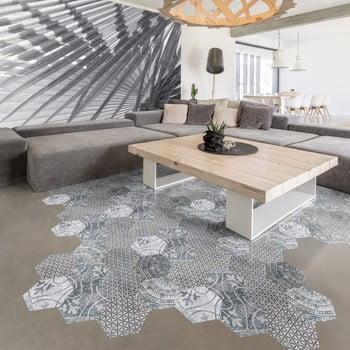 Set 10 autocolante impermeabile și anti-alunecare pentru podea Ambiance Quento, 40 x 90 cm imagine