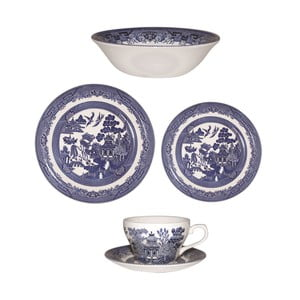 Set veselă Churchill China Blue Willow, 20 buc.