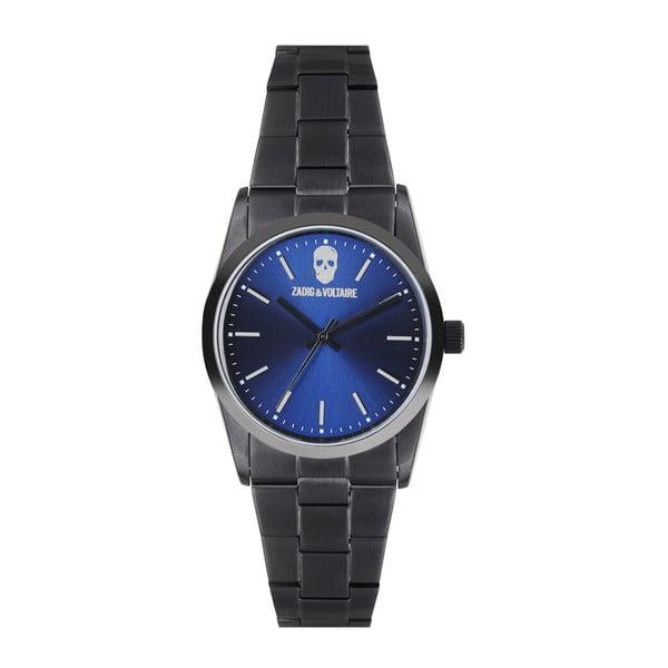 Pánské černé hodinky Zadig & Voltaire Skull