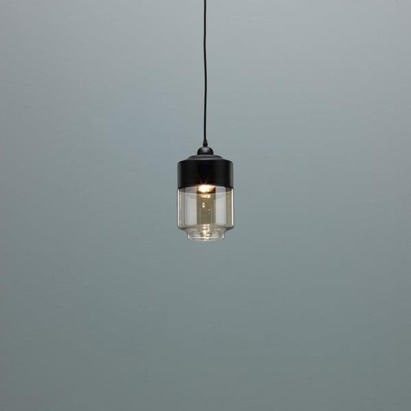 Černé závěsné svítidlo Design Twist Caracol Duo