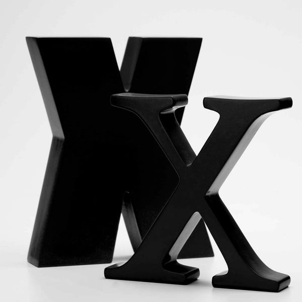 """Velké """"X"""" 17x14 cm, černá"""