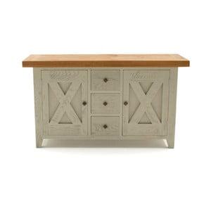 Dřevěná komoda VIDA Living Monroe, 50 x 160 cm