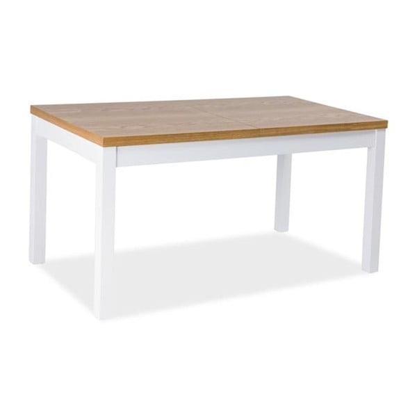 Rozkládací jídelní stůl s bílou konstrukcí Signal Kent, délka150 - 195cm