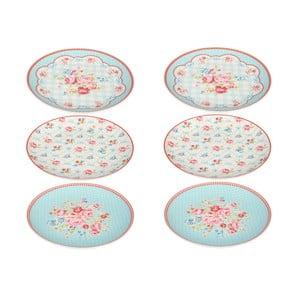 Sada šesti porcelánových talířů Lilly