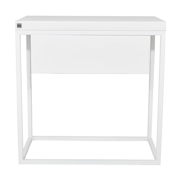 Bílý noční stolek take me HOME Moonlight, 50x30cm