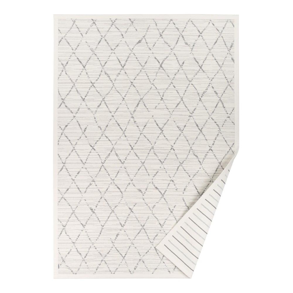 Bílý vzorovaný oboustranný koberec Narma Vao, 70 x 140 cm