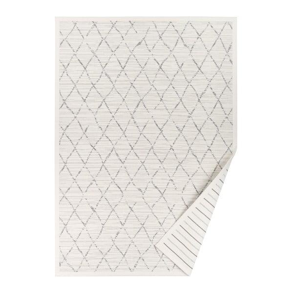 Biely vzorovaný obojstranný koberec Narma Vao, 160 × 230 cm