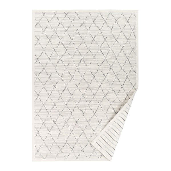 Covor reversibil cu model Narma Vao, 160 x 230 cm, alb